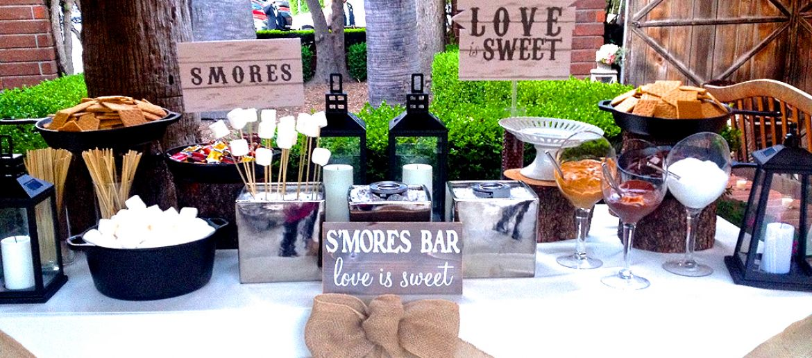 S'mores bars at Weddings