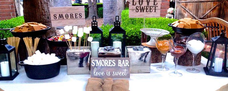 S'mores bars at Weddings