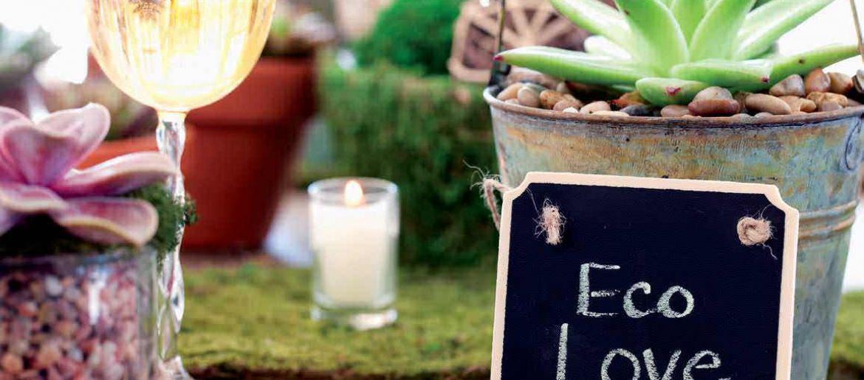 An eco-friendly wedding