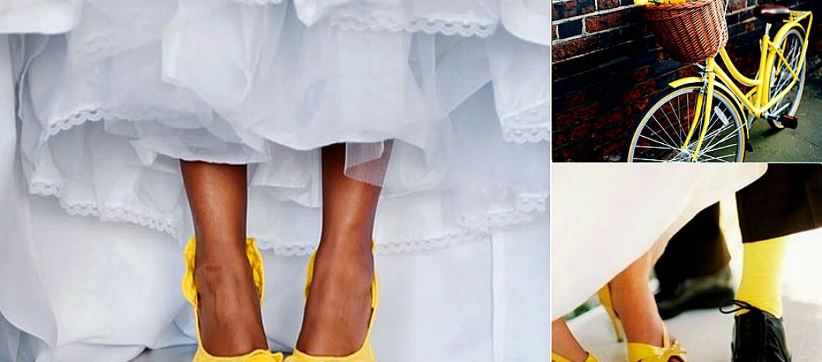 Yellow, the fashion color for a spring wedding