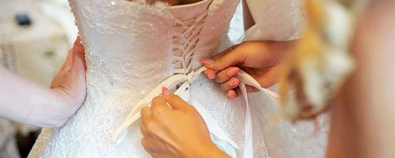 The lingerie of the new bride