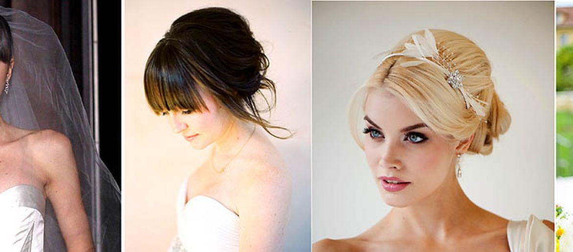 Got Bangs? Fringe Friendly Wedding Hairstyles