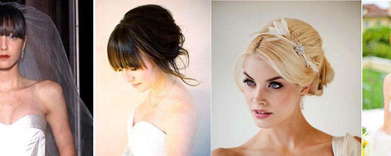 Got Bangs? Fringe Friendly Wedding Hairstyles