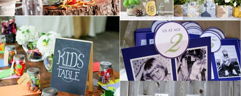 Creative Table Number Ideas for Your Wedding Reception