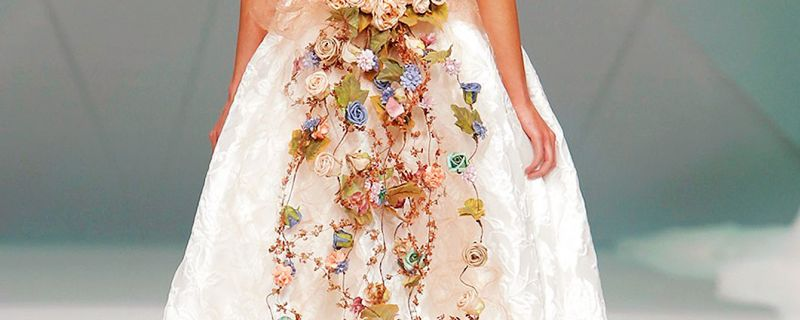 Wedding dresses with prints