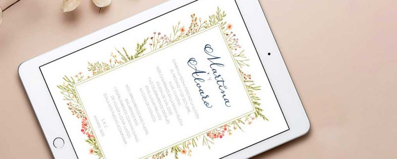 Digital wedding invitations: the best alternative for couples who have postponed their wedding