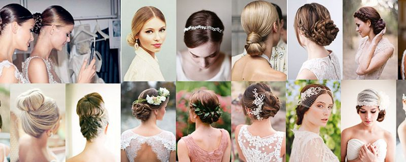 Some hair buns for your wedding look